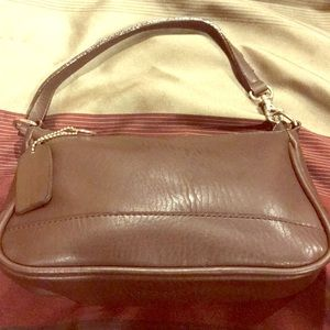 "Brown Coach bag 5.5"" x 9"" good condition"